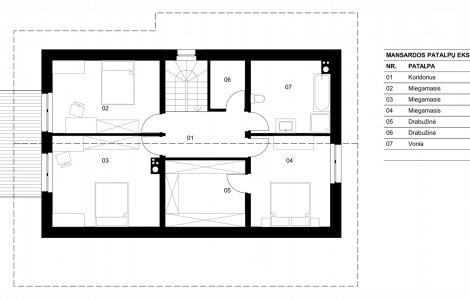 Projektas # 5.3. Vieno aukšto su pakelta mansarda, 165 m²