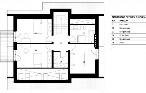 Projektas # 5.4. Vieno aukšto su pakelta mansarda, 145 m²